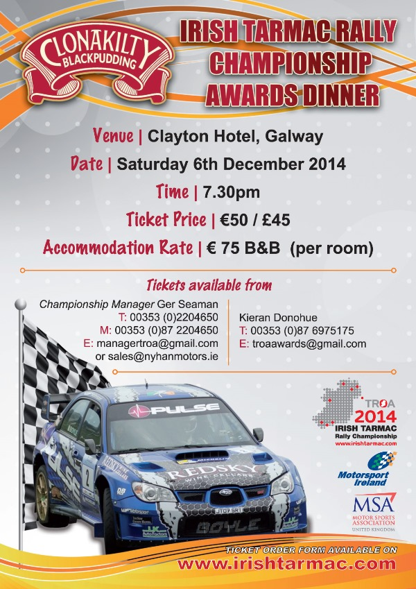 rally.ie - Stories - Tarmac Rally Championship Prizegiving - (Sat) 6 ...