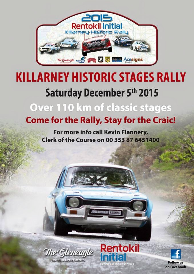 rally.ie - Stories - 2015 Killarney Historic Stages Rally - CANCELLED