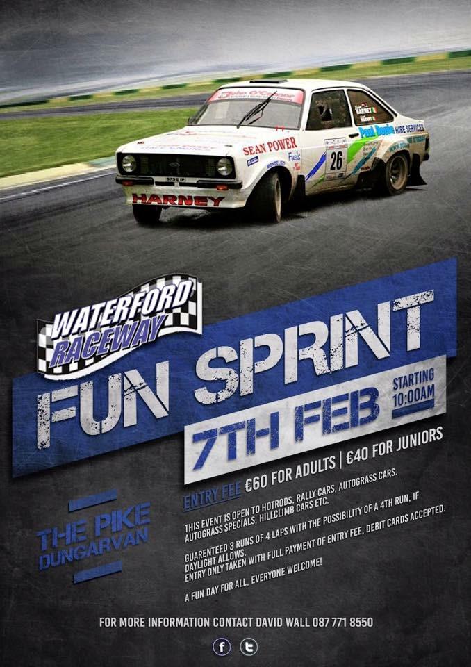 rally.ie - Stories - Fun Sprint @ The Pike, Dungarvan - 7 Feb 16