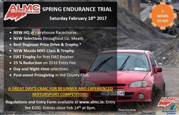 rally Stories ALMC Endurance Trial DATE CHANGE