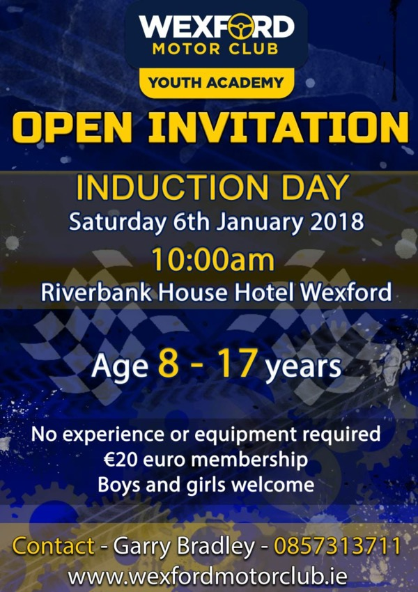 rally.ie - Stories - Wexford Motor Club Youth Academy Induction Day ...